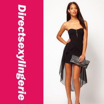 2014 Summer Latest Fashion Trend of  Woman dress Bandeau Dress with Asymmetric Hem ladies dress High quality!