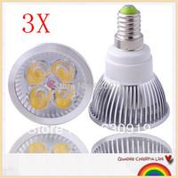 1pcs  CREE E14 E27 4X3W 12W Dlmmable 4 LED globle Light freeshipping