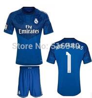 2013 2014 real  Madrid navy blue color soccer jerseys 14-15 real madrid Madrid Football Shirt &short can customed!