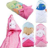 Baby Animal Face Baby Hooded towels bathrobe Coral Fleece bath towells toalha de banho bebe bath towelling