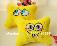 1pc Super soft lovely spongebob cartoon car pillow /Doraemon pillow /Comfortable sleep pillow toys Free Shipping