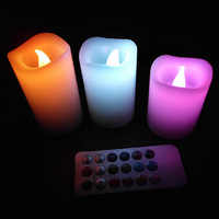 Floating Scented Flameless wax romantic wedding Led candle supplies gift kid birthday party decoration retail package 5pcs/lot