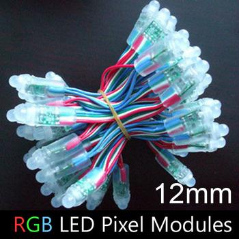 LED Advertising Letter Chain Lamp / LED Pixel lamp module, RGB, Diameter 12mm, DIP LED, Waterproof, DC5V 500pcs/lot