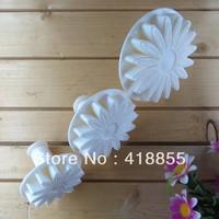 (( Holiday normal delivery )) 3PCS/set Sunflower gerbera Fondant Cake Decorating, embossing Press Print Molds flower