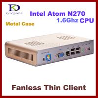 High quanlity!!! Thin Client Computer,Fanless Mini PC Industrial PC with Intel Atom N270 1.60Ghz,1GB RAM,8GB SSD, 32 Bit,720P HD
