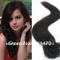 "18"" 20"" 22"" #2 Dark Brown Virgin Brazilian Silky Straight Prebonded U Tip Nail Hair Remy Hair Extensions Human Hair High Quality"