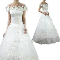 Wholesale Price Hot 2014 New Arrival Fashion Zipper Romantic Fashion Gown Classic Royal Plus Size Vestido White Wedding Dresses