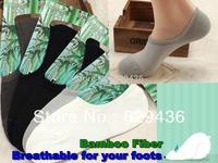 Free Shipping (10pairs/lot)2013 Hot sale newest style BAMBOO FIBER summer INVISIBLE  men sock, anti-slip Boat socks