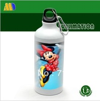 free shipping!400ml portable sublimation metal sports bottle with individual packing blank coated sport bottle for transfer