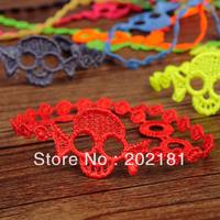 Free shipping Italian lace bracelet Gift 100% Good Quality muti-color mixed  Fashion Italy skull lace bracelet