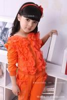 Free Shipping Children Tops New Spring Autumn Children Grils top Outerwear Girls Fashion Swear Kids Suit/Shirts/coat