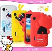 For zte u807 mobile phone case for zte u807 protective case for zte v889s protective case silica gel set soft