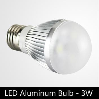 Economical 3W aluminum heat sink E27 Dimmable LED globe bulbs with brand LED, AC220V / 110V, 4pcs/lot free shipping
