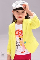 Children Tops New Spring Autumn 2013 Baby/Children Grils top Outerwear Girls Fashion Jacket Long-Sleeve Kids Suit/Shirts/coat