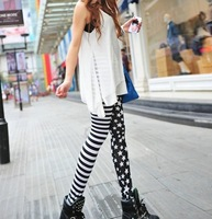 Sale!!!!Women Show Thin The Stars and Stripes of The Leggings Splicing Leggings Fashion and Personality Free Shipping