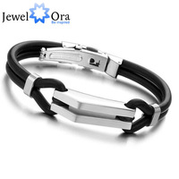 Sports Cuff Bracelets 10mmx210mm [JewelOra #BA100829] 316L Stainless Steel  Bracelet  Men Jewelry