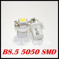 2014 Hot Sale Real Wholesale 100pcs/lot T5 B8.5 Led Smd 5050 Car Light Instrument Lights Bulb Gauge Dashboard Side Interior Lamp