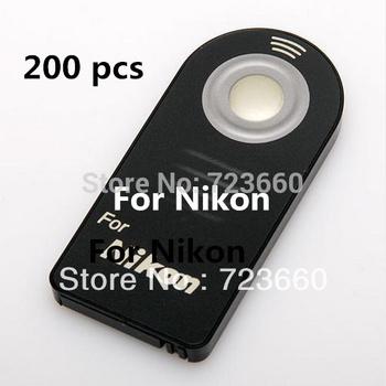 200 pcs ML-L3 ML L3 IR Wireless Remote Control For Nikon D7000 D5100 D5000 D3000 D90 D80 D70S D70 D50 D60 D40 8400 8800 Camera