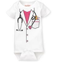 baby boys bodysuits girls' rompers doctor