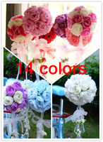 Free Shipping 10pcs Artificial flower rose ball silk flower Real Touch rose ball Home decorations for Wedding Party