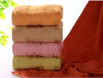 70*140cm(550g) Long thick velvet multicolor 100% bamboo fiber bath sports towels/Embroidery decoration