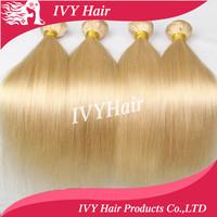 Beauty golden blonde human hair, cheap brazilian virgin hair straight 4pcs lot,613# hot selling 8-30inch brazilian virgin hair