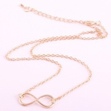 Min.order is $10 (mix order) 32E41 Fashion Korea metal Infinity necklace Wholesale !Free shipping!