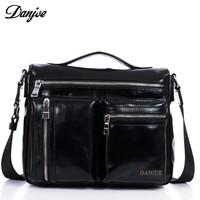 Luxury genuine leather men messenger bags brand man bag briefcase handbags shoulder bags for men
