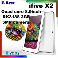 hot and good quality FNF ifive x2 tablet pc 16GB ROM 2GB RAM 8.9inch RK3188 quad core dual cameras 7000mAh IPS bluetooth HDMI