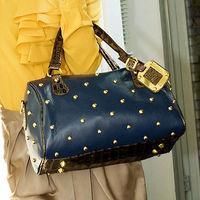 Promotion  Maomao female bag rivet vintage solid messenger one shoulder bag student body across  bag  Bolsos bolsas sacs