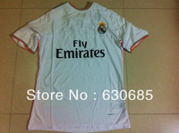 New arrival 13/14 fans version real madrid home white best quality soccer jersey, real madrid soccer jerseys