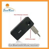 Free shipping for Car Bluetooth Music Receiver with Stereo Output, Wireless Distance20m  to the speaker
