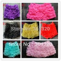 free shipping baby girls shorts  bloomers chiffon skirt dress ruffle shorts petti chiffon shorts