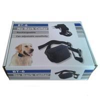1Pcs Rechargeable Bark Terminator Advanced Bark Control Collar Shock + Vibra BT-6 Dog Training Collar