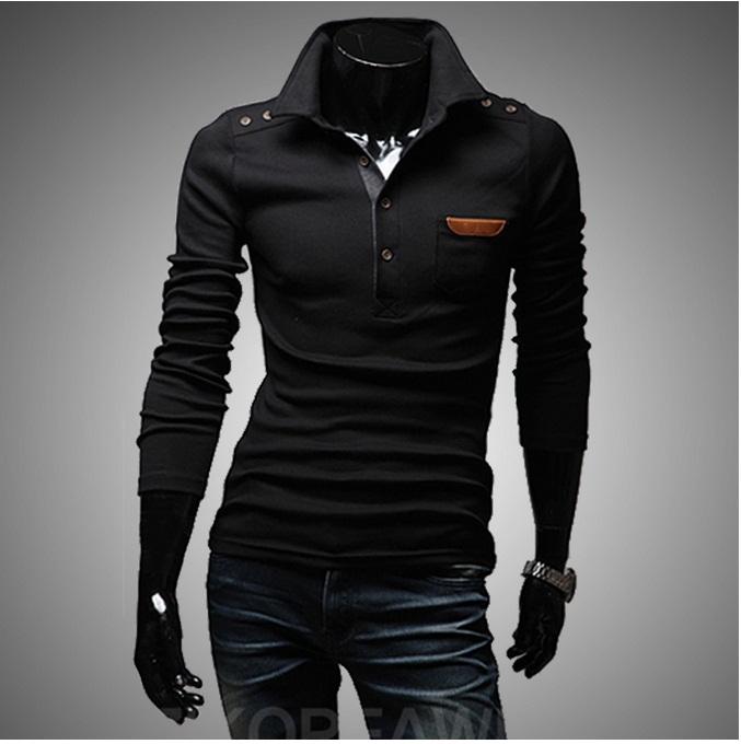 2013 new brand design men t shirt top tees tops wear long for Best full sleeve t shirts