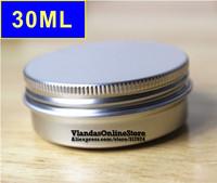50Pcs/Lot 30ML D47mm*H25mm Silver Color Aluminum Cosmetic Box Cream Jar With Screw Cap