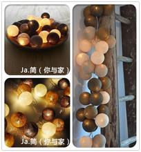 Free shipping 20 Balls/Set 3M Colorful Holiday lights lamp/String Cotton Light Holidays Decorations(China (Mainland))