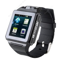 Free Shipping!Android Dual Core Mobile Phone Watch 5 Mega Pixels Camera GPS Bluetooth FM WiFi