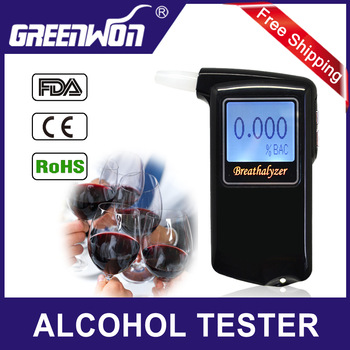 2013 Newest high accuracy Prefessional Police Digital Breath Alcohol Tester Breathalyzer AT868 Freeshipping Dropshipping