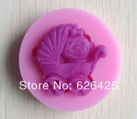 1PCS baby carriage shower party silicone mold soap,fondant baby mold,candle moulds,chocolate mold , forms for soap