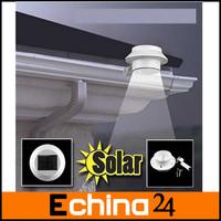 3pcs/lot Brazil Free Shipping! Waterproof Fence Roof Gutter Garden Yard Wall Lamp Outdoor Solar Powered 3 LED Light
