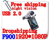 Free Shipping Car DVR F900 Camera Recorder HD 1920*1080P 2.5 Inch Support Russia Language Car Black Box Video Recorder(H-04C)