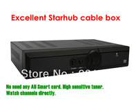 Free shipping original Singapore hd set top box cable for StarHub tv box hd800 with PVR HD EPL channels  5 pcs/lot
