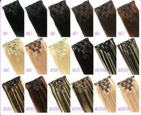 Top quality brazilian virgin hair straihgt 100% human hair clip in extensions honey blonde 27 dyeable free shipping