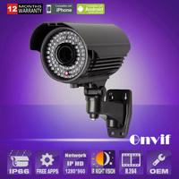 960P 1.3 Megapixel HD H.264 Onvif Low-illumination Zoom 2.8-12mm 78IR Waterproof IP Network Camera CCTV Security Camera