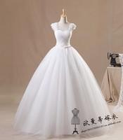 Sweet Princess Actual Wedding dress 2014 Wedding Gown Top Custom-Made U0048 Plus size Wedding Dress