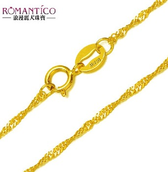 Gold chain 18k gold necklace solid gold  necklace 18k pure gold female necklace female chain