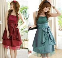 Temperament Nude Color Flowers Decorate The Strap Tight Banquet Dress, Prom Dresses 2013 Evening Dresses LS-1110