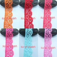 30 yard/lot 35mm width Elastic Stretch Lace trim sewing headband accessories