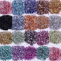 Free shipping (2000pcs/lot) 2mm Flatback Rhinestones In Bulk Mixed Colors For Nail Art Decoration Acrylic rhinestones